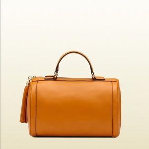 Gucci Sunflower Soho Light Leather Boston Bag